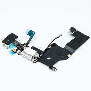 Epart-supplier Charging Port Dock & Headphone Jack Connector Flex Cable Replacement for Iphone 5 White