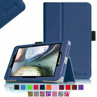 Fintie Lenovo IdeaTab S5000 7-Inch Android Tablet Folio Case - Premium Leather Cover Stand With Stylus Holder, Navy