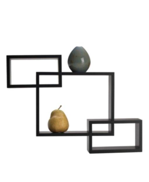 Mikasa Melannco Home Decor, Espresso Overlapping Cube Wall Shelves