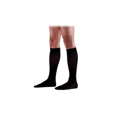 Sigvaris Cotton 233CLLM99-S 30-40 mmHg Mens With Grip Top Socks Black - Large Long