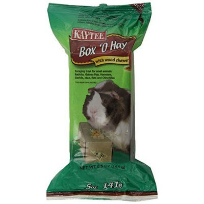Kaytee Pet Products SKT100504094 Box 'O Hay Small Animal Treat with Wood Chews, 0.5-Ounce