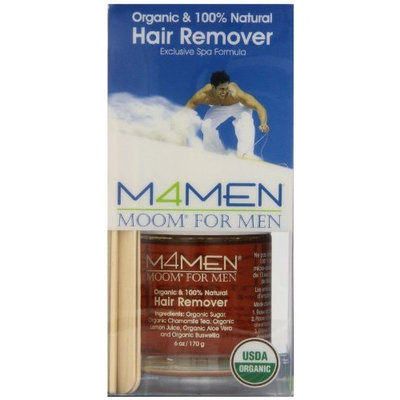 Moom For Men Organic Hair Removal Kit, 6-Ounce Package