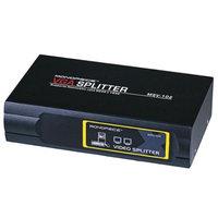 Monoprice 2-Way SVGA VGA Splitter Amplifier Multiplier 400 MHz - Black