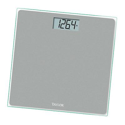 Taylor 753041034 Silver Razor Thin Glass Lithium Electronic Digital Bath Scale