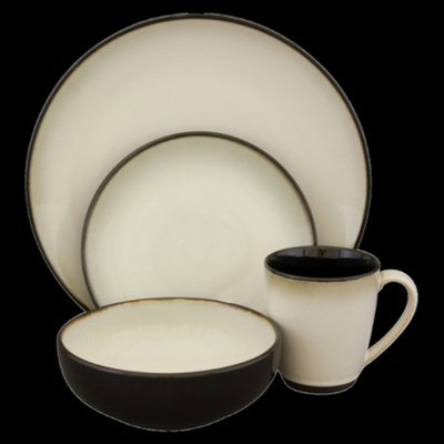 Sango Nova 16-pc. Dinnerware Set - Black