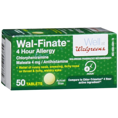 Walgreens Wal-Finate Allergy Relief Tablets