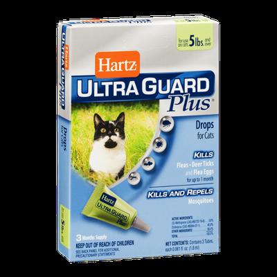 Hartz Ultra Guard Plus Drops for Cats 5lbs - 3 CT
