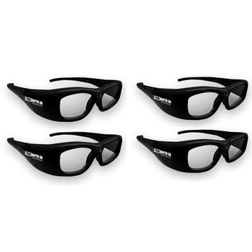 TrueDepth3D True Depth 3D® glasses for Samsung and Mitsubishi 3-D TVs Family 4 Pack!
