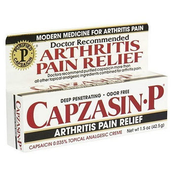 Capzasin-P Topical Analgesic Cream, .035-Percent Capsaicin, 1.5-Ounce Tubes (Pack of 3)