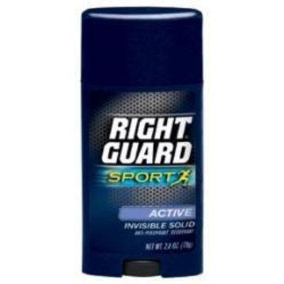 DIAL CORPORATION Right guard sport antipersipirant deodorant invisible solid, active, 3 oz