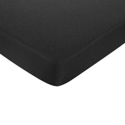 Sweet JoJo Designs Zig Zag Fitted Bed Sheet - Black