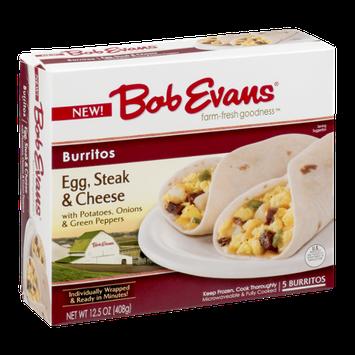 Bob Evans Burritos Egg, Steak & Cheese - 5 CT
