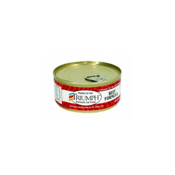 Triumph Pet-Sunshine Mill Triumph Pet Industries Triumph Canned Cat Food 5. 5 Oz Beef 00109 Pack of 24
