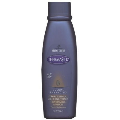 Thermasilk Shampoo Plus Conditioner 2 in 1, Volumizing, For Fine Or Thin Hair - 13oz.