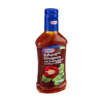 Kraft Salad Dressing Balsamic Vinaigrette with Tomato & Basil Dressing & Marinade, 16 FL OZ (Pack of 6)