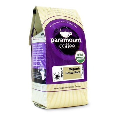 Paramount Coffee, Organic Costa Rica, Ground Coffee, 10-Ounce Bags (Pack of 3)