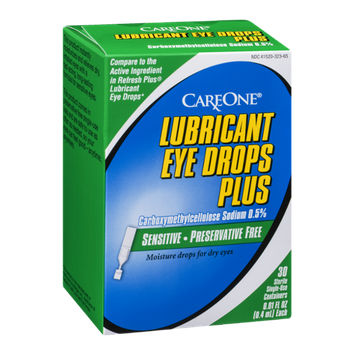 CareOne Lubricant Eye Drops Plus Sterile Single-Use Containers