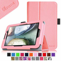 Fintie Lenovo IdeaTab A3000 7-Inch Android Tablet Folio Case - Premium Leather Cover Stand With Stylus Holder, Pink