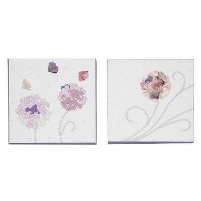 Babies R Us Kidsline Fleur 2-Piece Canvas Wall Art - Pink