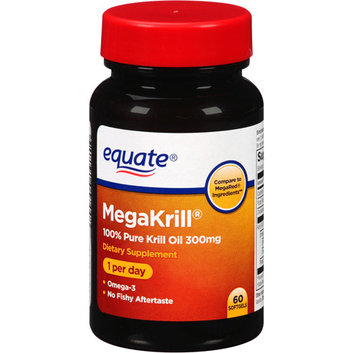 Equate MegaKrill 100% Pure Krill Oil Dietary Supplement Softgels