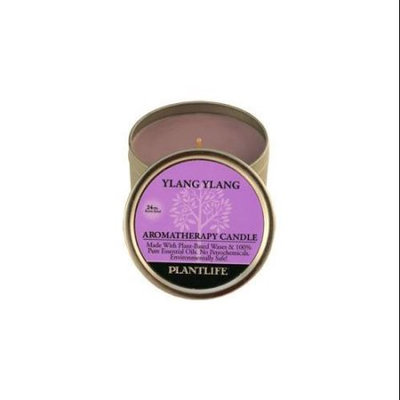 Plantlife Ylang Ylang Aromatherapy Candle- Made with 100% Pure Essential Oils - 3oz Tin