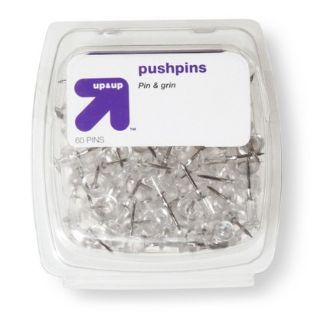 up & up up&up Push Pins Clear 60-ct.