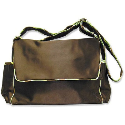 Trend Lab Giggles Messenger Diaper Bag Color: Brown with Giggles Green Trim
