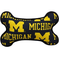 Pet Goods University Michigan Bone Toy, 8-Inch