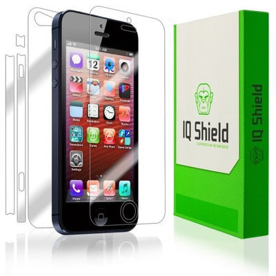 IQShield iPhone 5 Screen Protector [Full Coverage], IQ Shield® LiQuidSkin - Full Body (Front & Back) & Lifetime Warranty - HD Ultra Clear Film Guard - Smooth / Self-Healing / Bubble-Free Shield