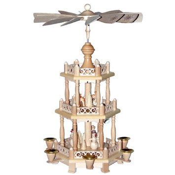 Alexander Taron Tabletop Candle Pyramid Indoor Christmas Decoration 16798