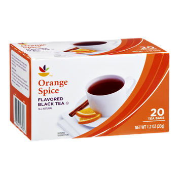 Ahold Orange Spice All Natural Flavored Black Tea Bags- 20 CT