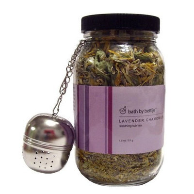 Bath By Bettijo Soothing Tub Tea, Lavender Chamomile, 1.8-Ounce Jars
