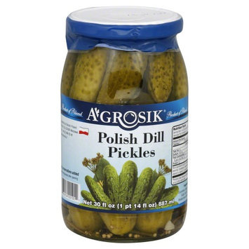A-grosik Pickle Polish Dill 30 OZ (Pack Of 12)