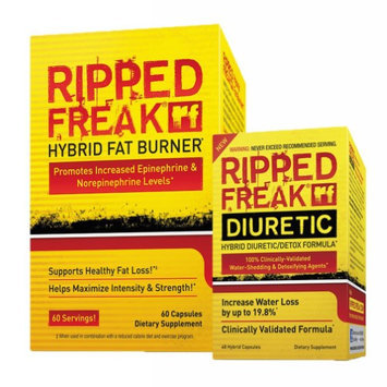 Saga Sciences (1) PharmaFreak Ripped Freak Hybrid Fat Burner and (1) PharmaFreak Ripped Freak Diuretic Shed Fat and Water Weight Now