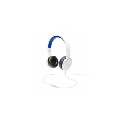 WeSC RZA Street Headphones with Mic - White/Blue