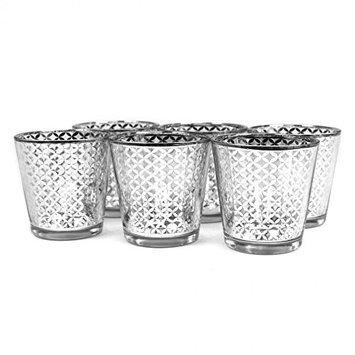 Koyal Wholesale 403358 Lattice Votive Cup Silver - 3 in.