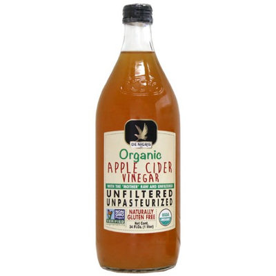 De Nigris 1 lt. Organic Unfiltered Apple Cider Vinegar Case Of 6