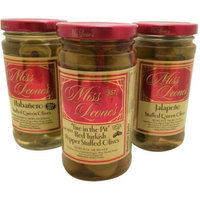 Generic Miss Leone's Fiery Pepper Combo Pack Stuffed Queen Olives, 12 oz, 3 count