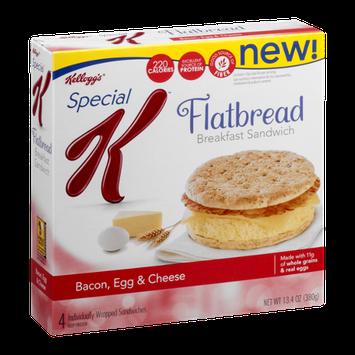 Kellogg's Special K Flatbread Breakfast Sandwich Bacon, Egg & Cheese - 4 CT