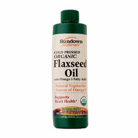 Sundown Naturals Organic Flaxseed Oil with Omega-3