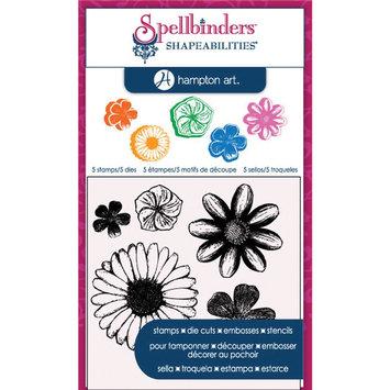Hampton Art Spellbinders Cling Stamp and Die Set - Flowers