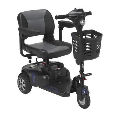 Drive Medical Phoenix 3 Wheel Heavy Duty Scooter, Red, Blue, 17.5 Inch Folding Seat, 1 ea