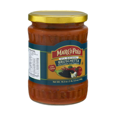Marco Polo Red Pepper and Eggplant Bruschetta Sauce