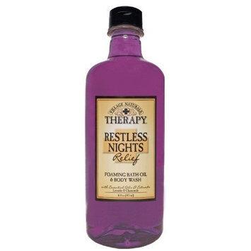 Village Naturals Foaming Bath Oil & Body Wash, Restless Nights 16 fl oz (473 ml)