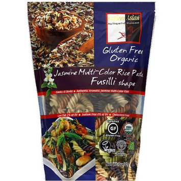 Explore Asian Jasmine Multi-Color Fusilli Shape Rice Pasta, 12 oz, (Pack of 6)
