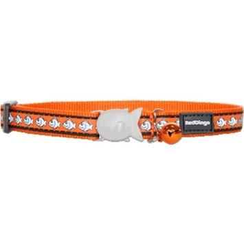Red Dingo CC-RF-OR-SM Cat Collar Reflective Orange