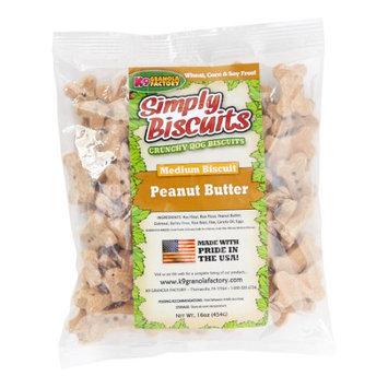 K9 Granola Factory Simply Biscuits Peanut Butter Dog Treat Medium 1lb