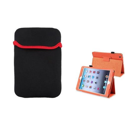 Insten iPad Mini 3/2/1 Case, by INSTEN Orange Leather Case Stand Cover+Sleeve Pouch for iPad Mini 3 2 1
