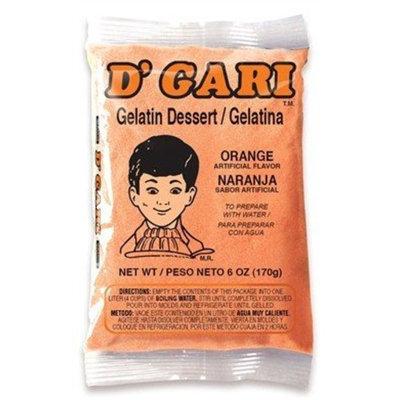 D'gari Dgari, Gelatin Prep Wtr Orange, 6-Ounce