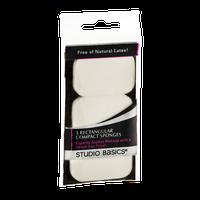 Studio Basics Compact Sponges Rectangular - 3 CT